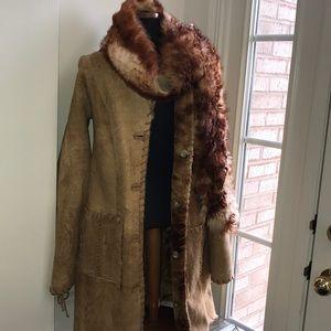 NWT  Vakko  Reversible Shearling Coat